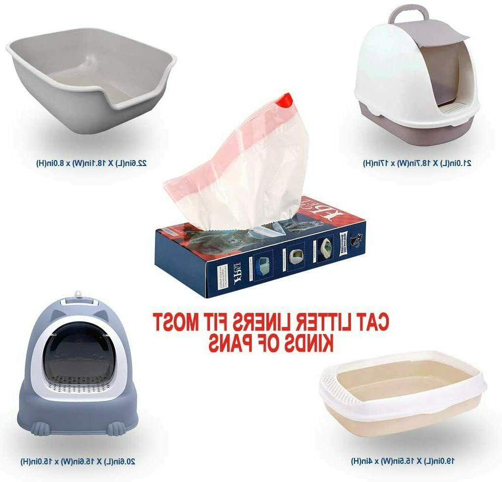 """10 Count Cat Litter Box Pan Liners Large 36"""" X 19"""" Liner Hea"""