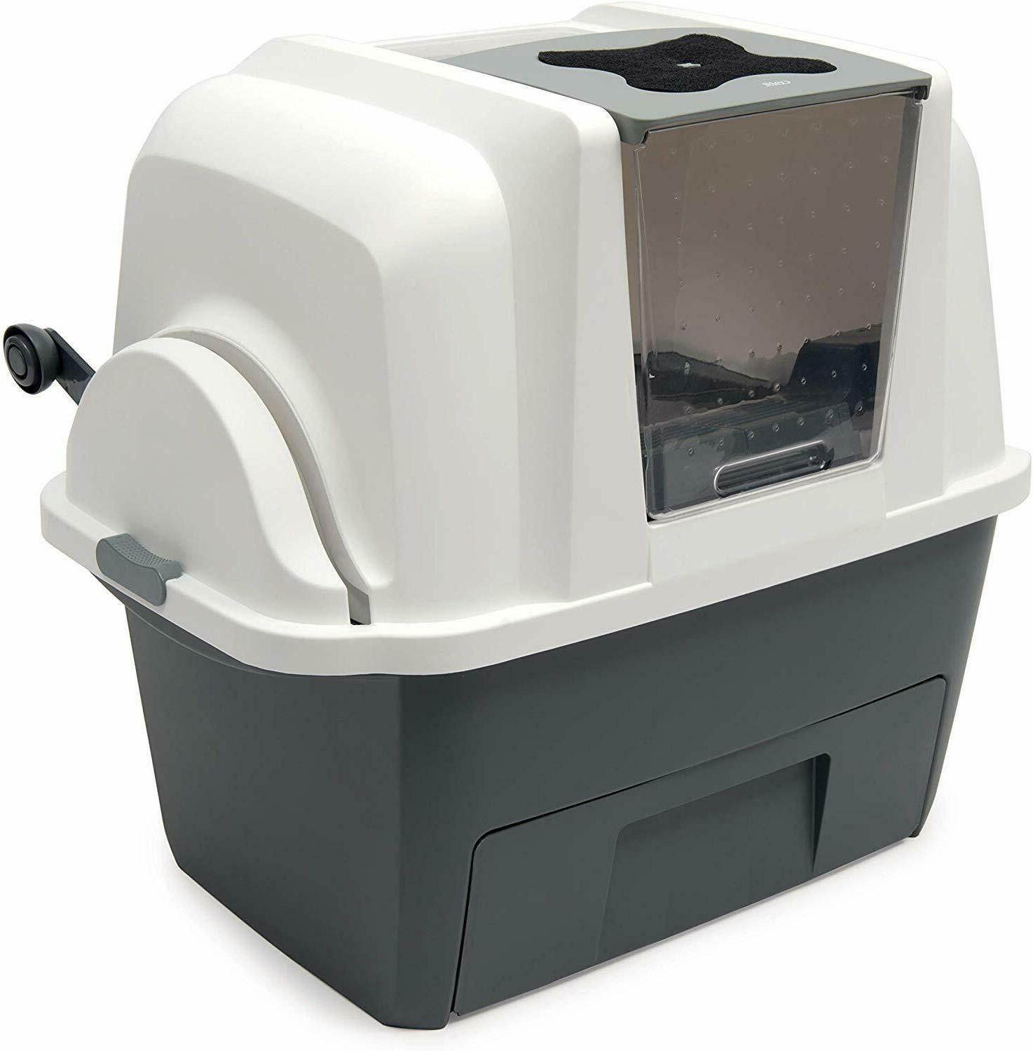 Covered Self Cleaning Multi Cat Liter Box Automatic Scoop Ki