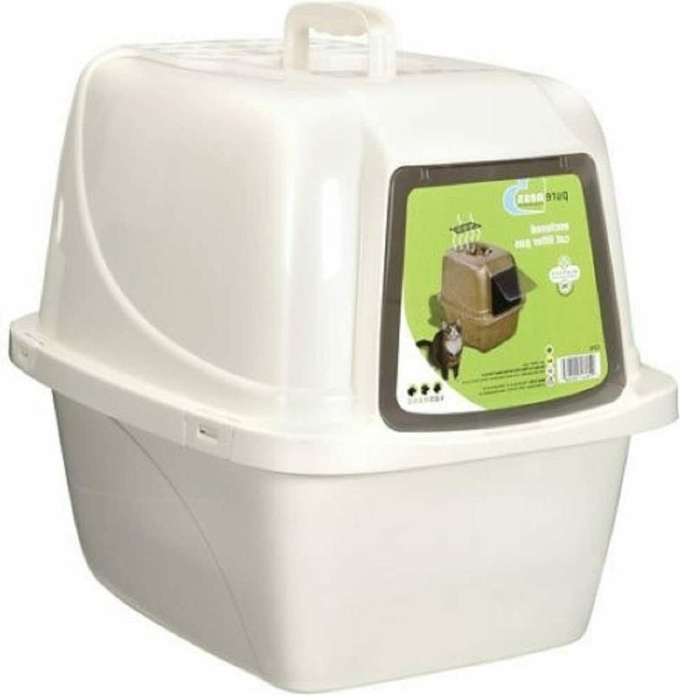 covered cat litter box easy to clean