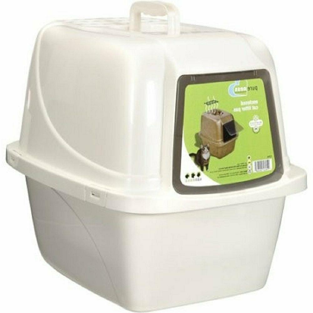 covered cat litter box large new