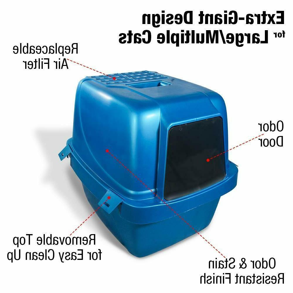 Covered Box Odor Enclosed Cat Odor