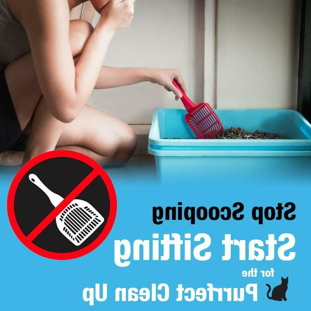Covered Cat Litter Odor Control Extra Enclosed Odor Door