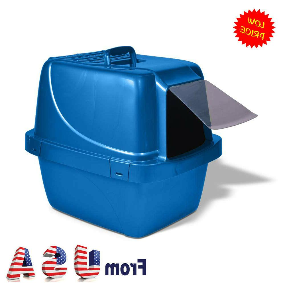 covered cat litter box odor control extra