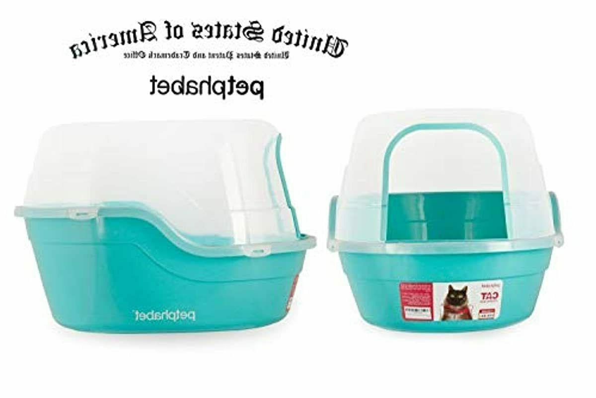Covered Litter Box, Jumbo Hooded Cat Litter Box Holds Two Sm