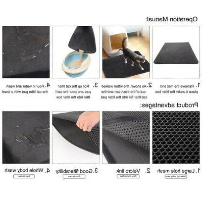 Double-Layer Mat Foldable Pad Pet Rubber