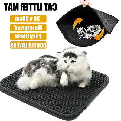 Double-Layer Litter Box Pet Foam Rug