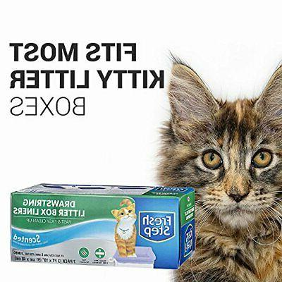 Fresh Step Drawstring Cat Litter Box Liners, Scented Jumbo S