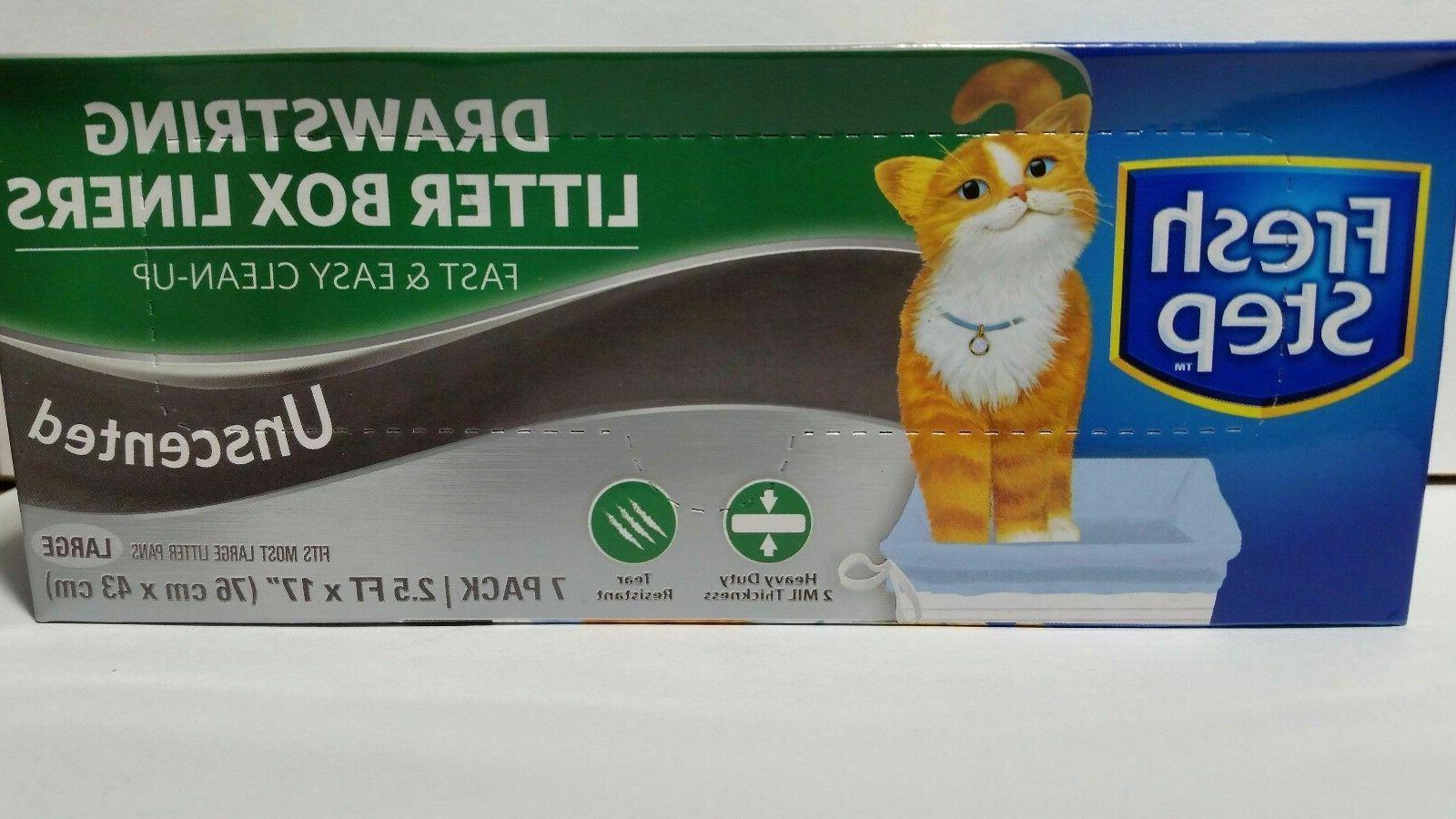 drawstring litter box liners unscented large select