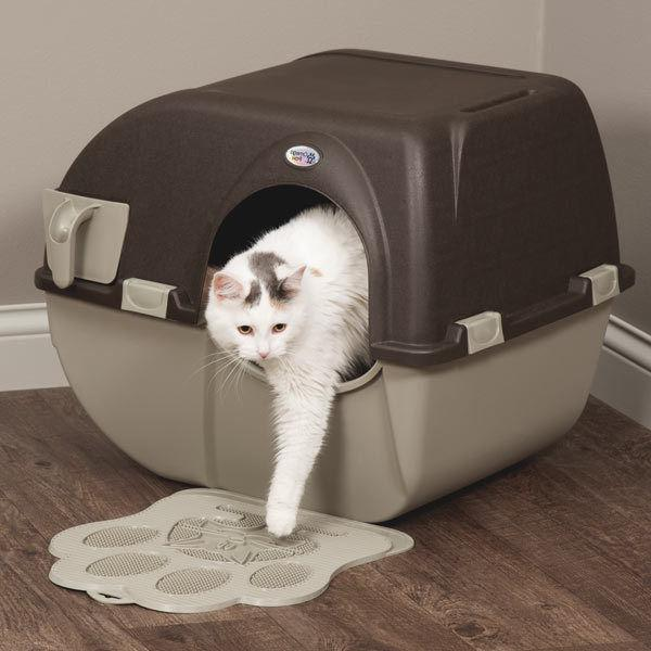 easy self cleaning automatic cat litter box