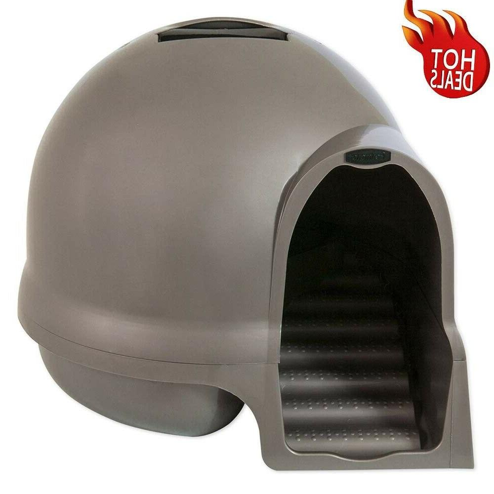 enclosed cat litter box hidden large covered