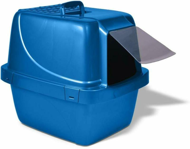 extra large cat litter box enclosed sifting