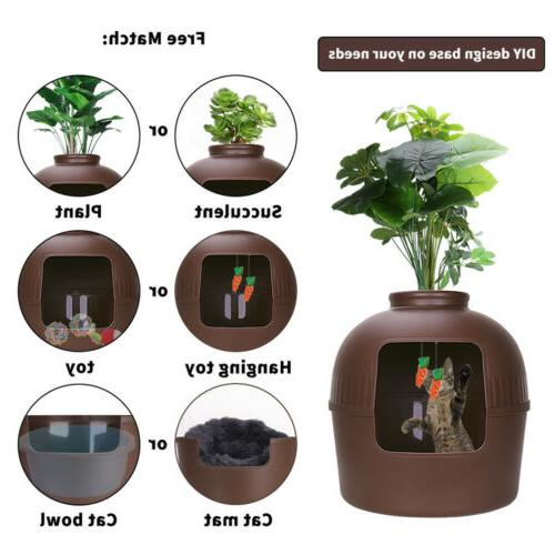 Extra Large Hidden Litter Box Pet Cave House Plant Pot