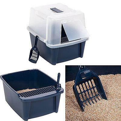 extra large hooded covered cat litter box