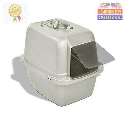 extra large litter box enclosed sifting pan