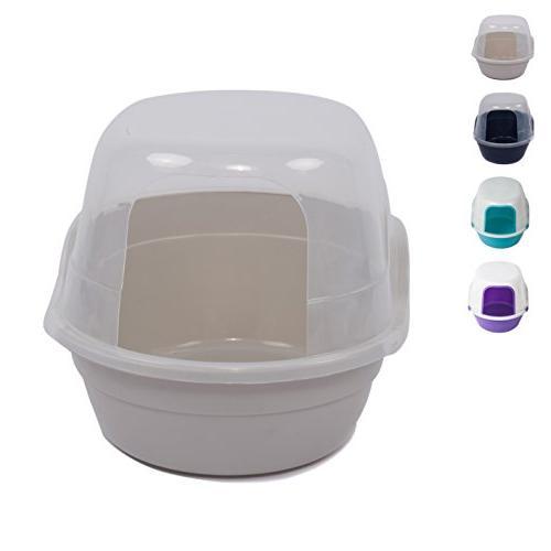 Favorite® Box Covered Litter Enclosed Kitten Box/ Hooded in Litter Scoop