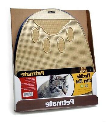 flexible pet litter mat kitty