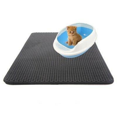 Double-Layer Litter Mat Foldable Trapper Pet Rubber US