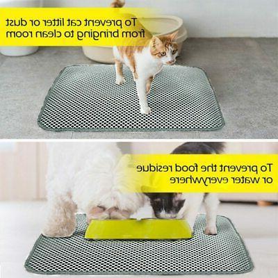 Pet Cat Waterproof Double-Layer Cat Litter Mat Trapper Folda