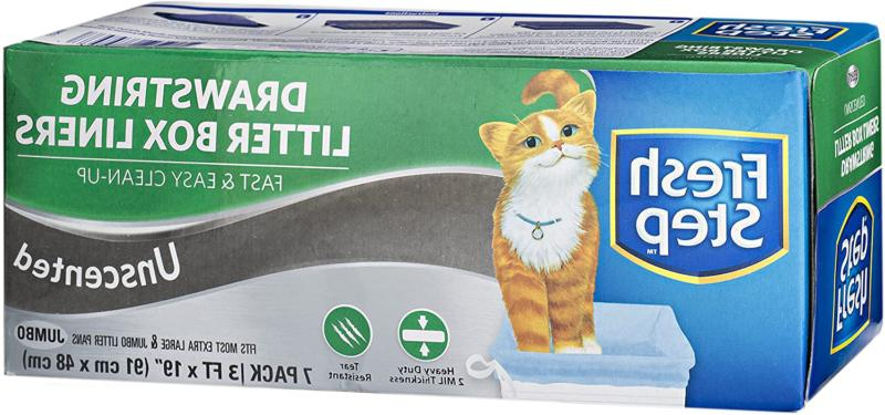 Fresh Step Drawstring Large Litter Box Liners, Heavy Duty Li
