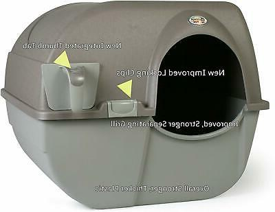 Omega Paw 'n Clean Self Cat Litter Box Regular Pewter New