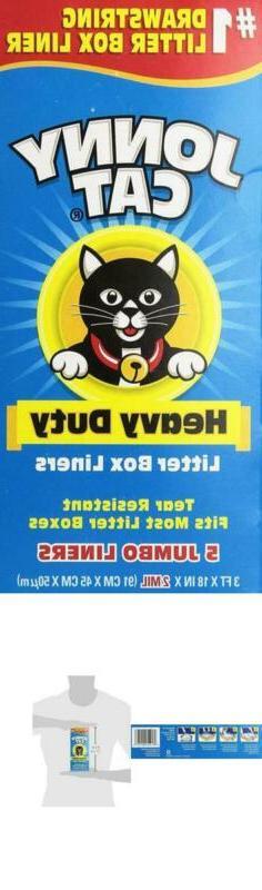 Jonny Cat Litter Box Liners, Heavy Duty, Jumbo 5 Per Box