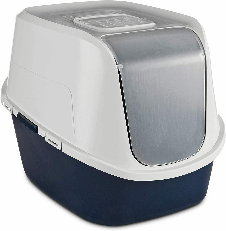 jumbo enclosed litter box in navy 23