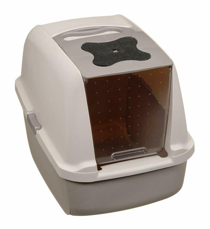 Catit Jumbo Hooded Litter Warm House boxes Privacy Door