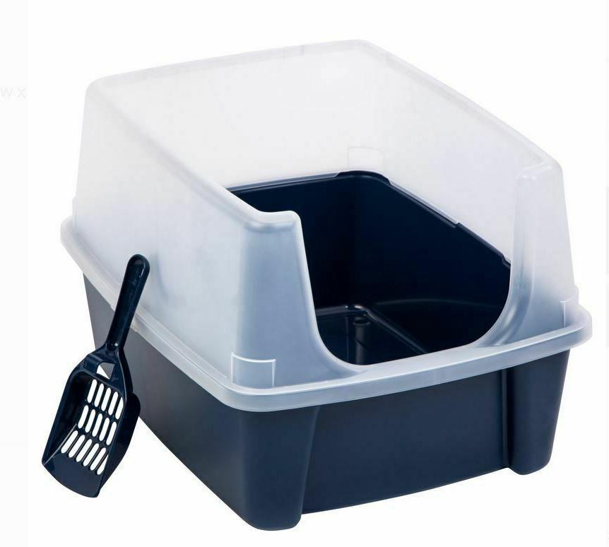 Jumbo Large Cat Box Pan Enclosed Covered Scoop