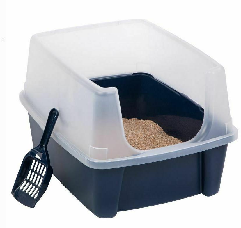 jumbo large cat litter box pan enclosed