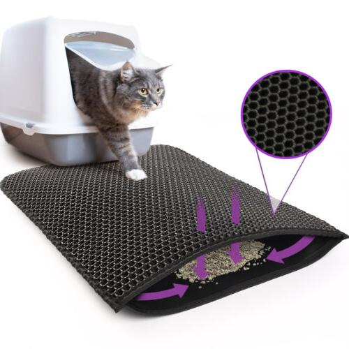 kitty cat litter mat trapping honeycomb double
