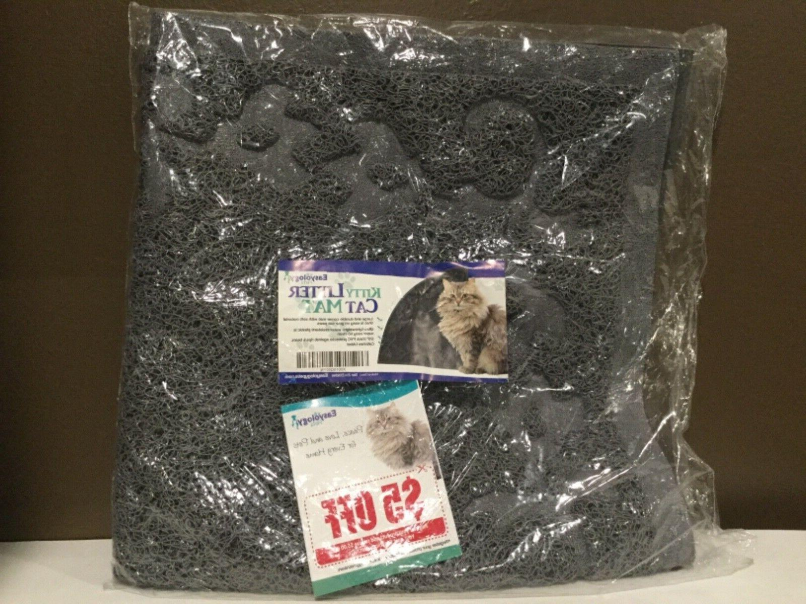 kitty litter cat mat large and durable