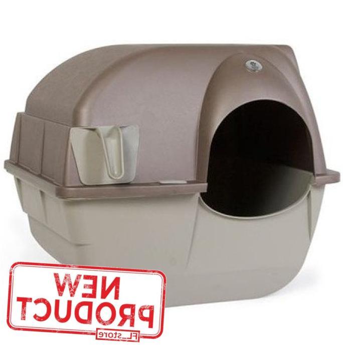 large cat litter box pet kitty self