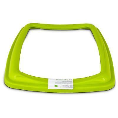 lime green open litter rim