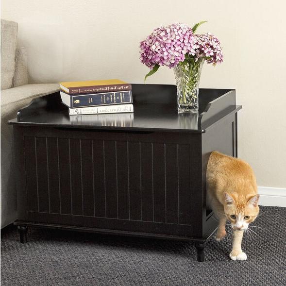 DESIGNER Pet LITTER BOX Enclosure COVER Table STAND Cat HOUS