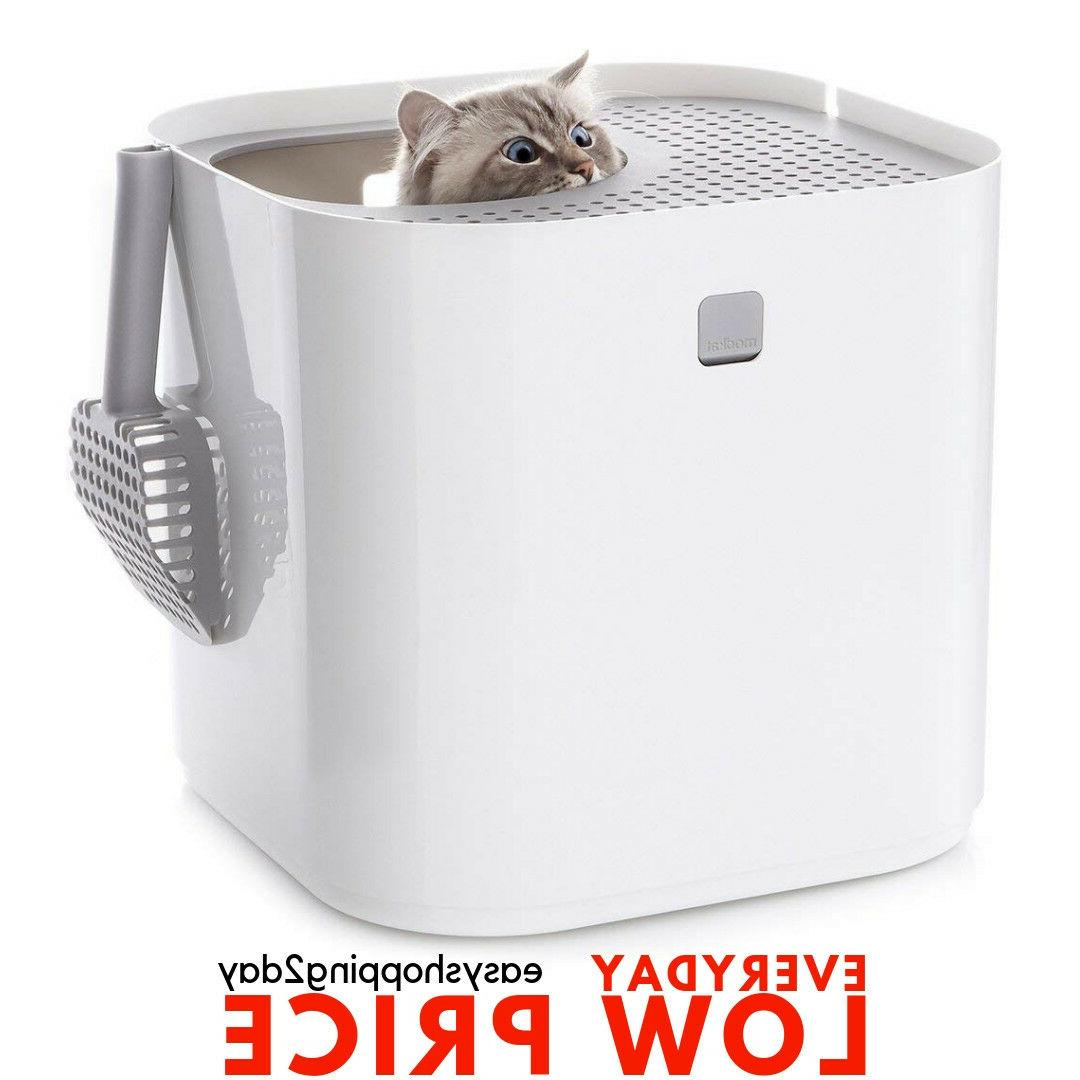 Modkat Litter Box, Top-Entry, Looks Great, Reduces Litter Tr