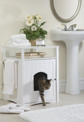 Merry Home Decor Hidden Litter Box Pet Night Stand