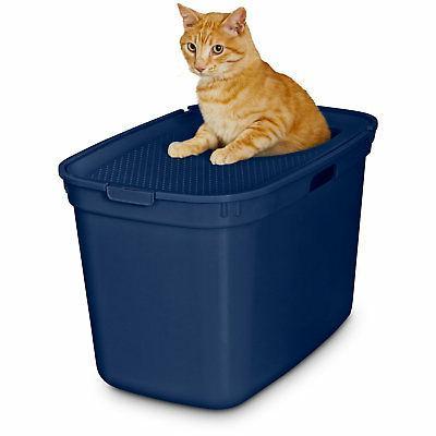 navy top entry litter box 23 25