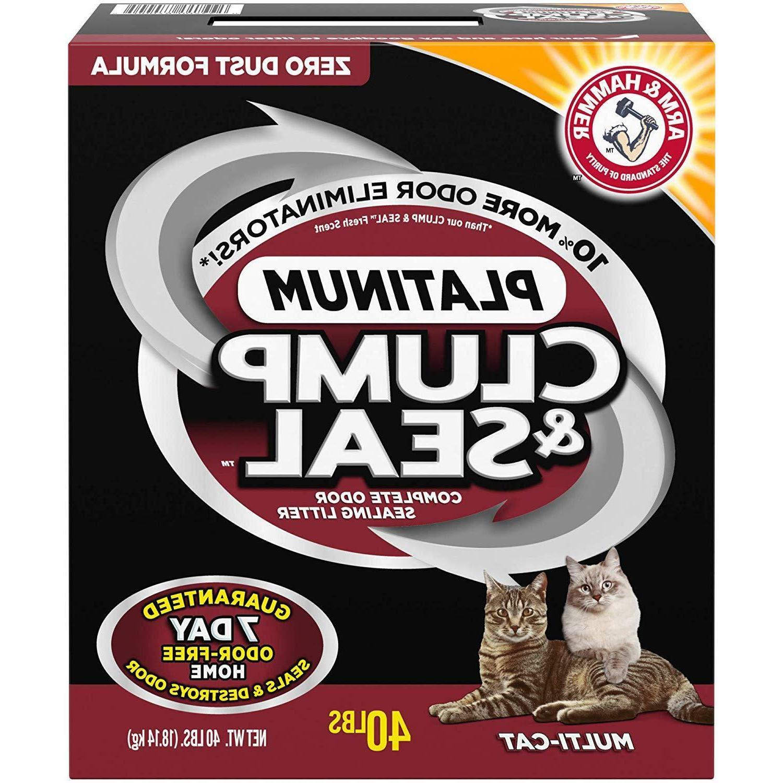Arm & Hammer Clump & Seal Multi-Cat Litter 40-lb