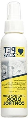 Pet Zone Odor Control Litter Box Spray 4-Ounce