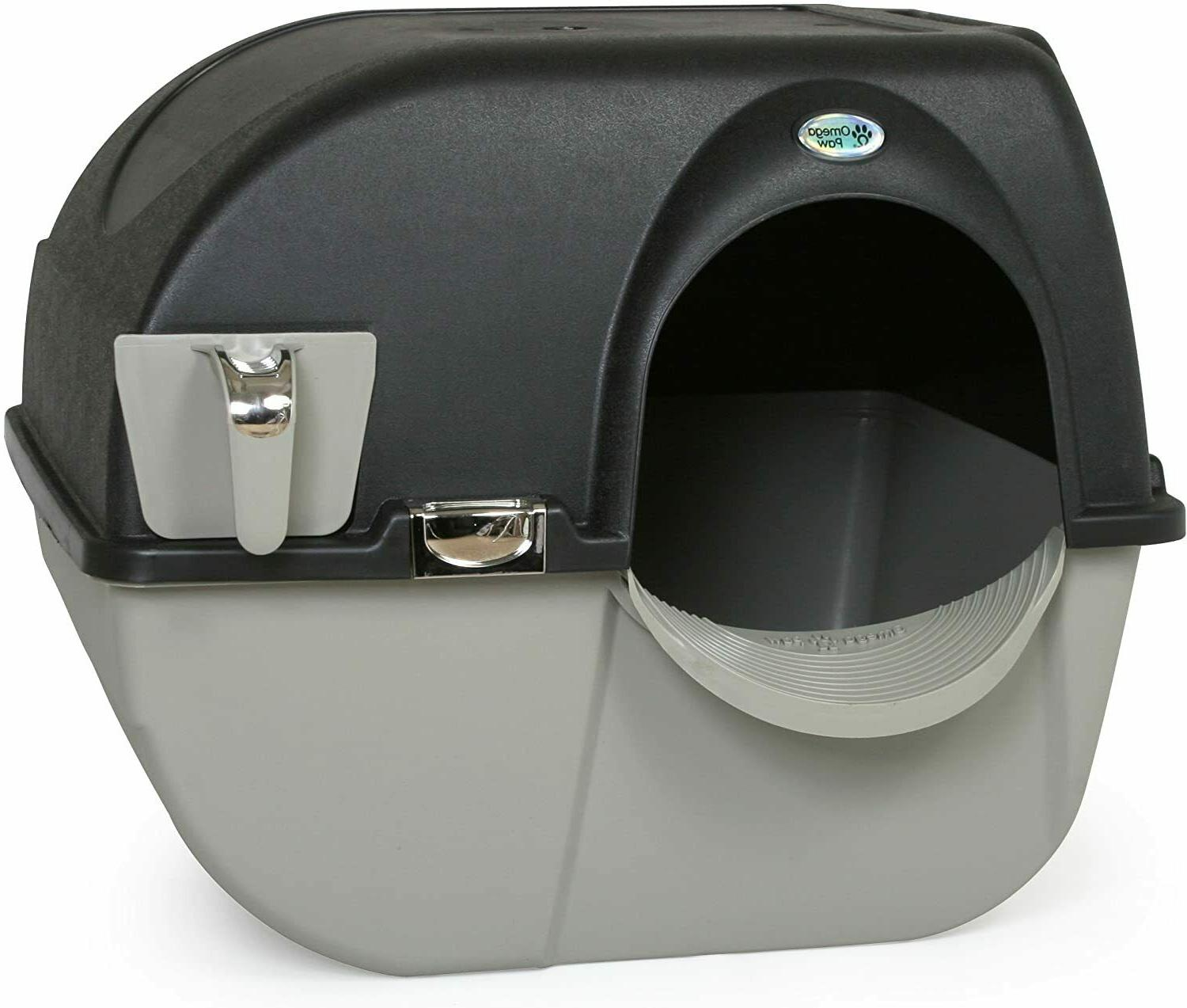 Hooded Self Cleaning Cat Litter Box Roll Clean Covered Multi