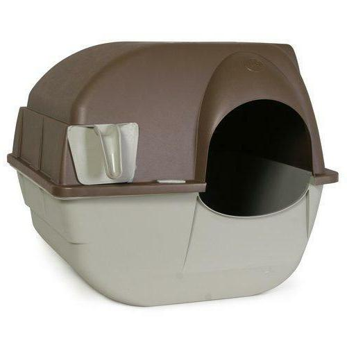 Omega Paw Roll'n Clean Self Cleaning Litter Box Kitten Cat N