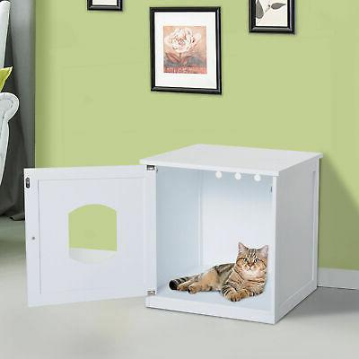 Cat Hidden Litter Box Enclosure Nightstand End Table Kitty P