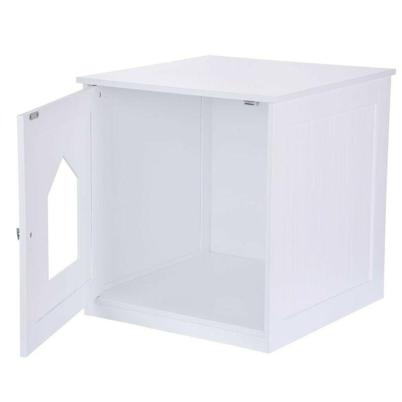 Pet Hidden Box House Nightstand End White