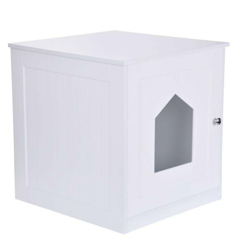 Pet Cat Box End White