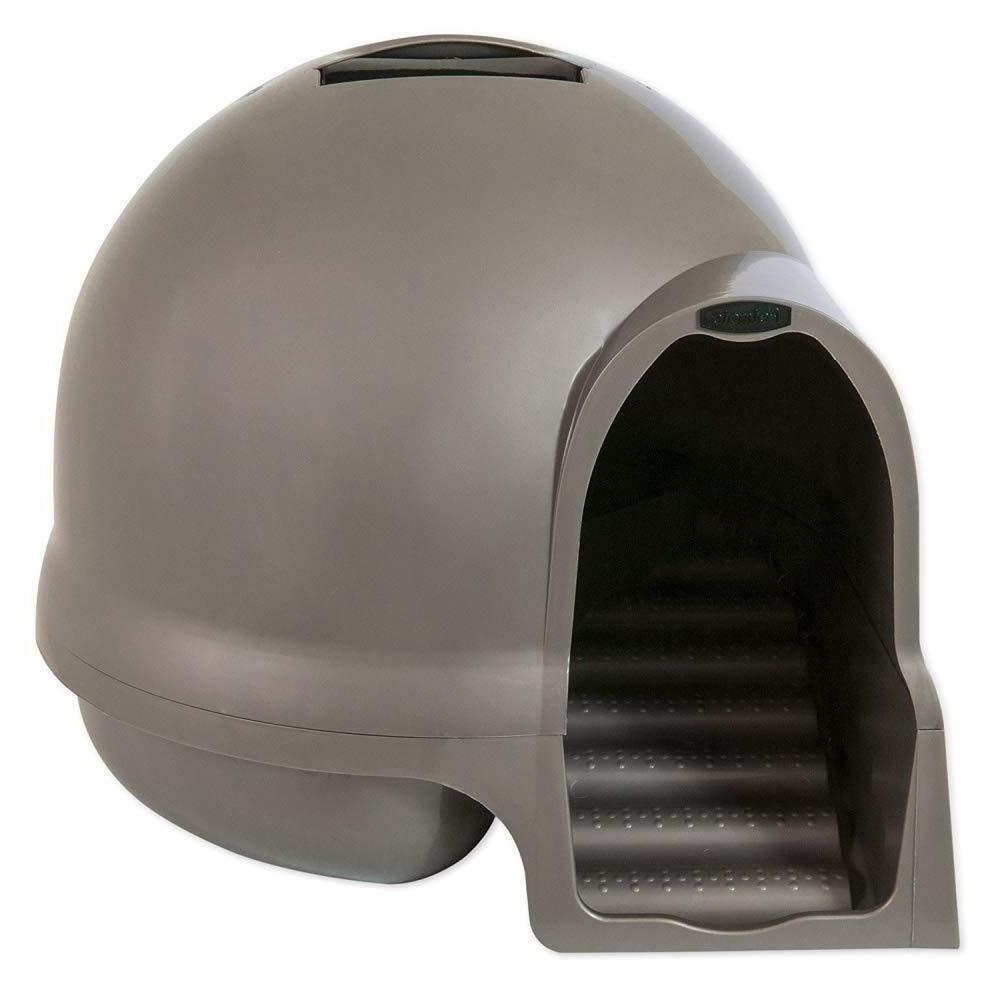 Covered Litter Box Enclosed Hooded Dome Lid Large Cat Kitten