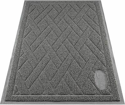 Pawkin Phthalate Free Cat Litter Mat - Patented Design with