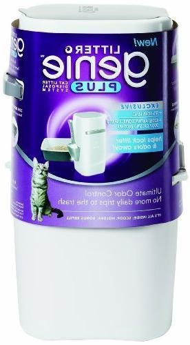 Litter Genie Litter Genie Plus Cat Litter Disposal System Wh