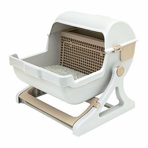 PREMIUM Cat Litter Box Automatic Lid Cover, cat Toilet