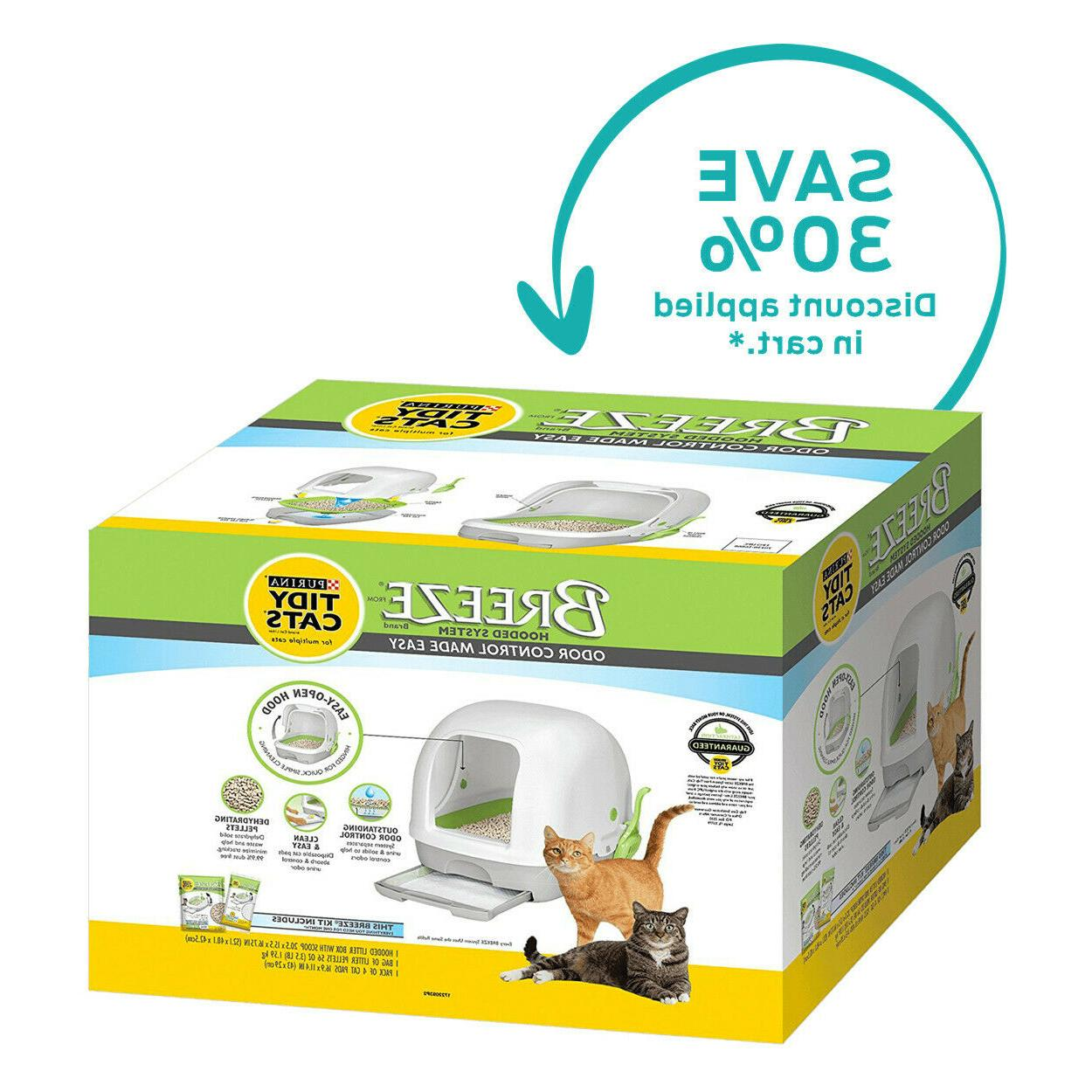 purina breeze hooded litter system size hooded
