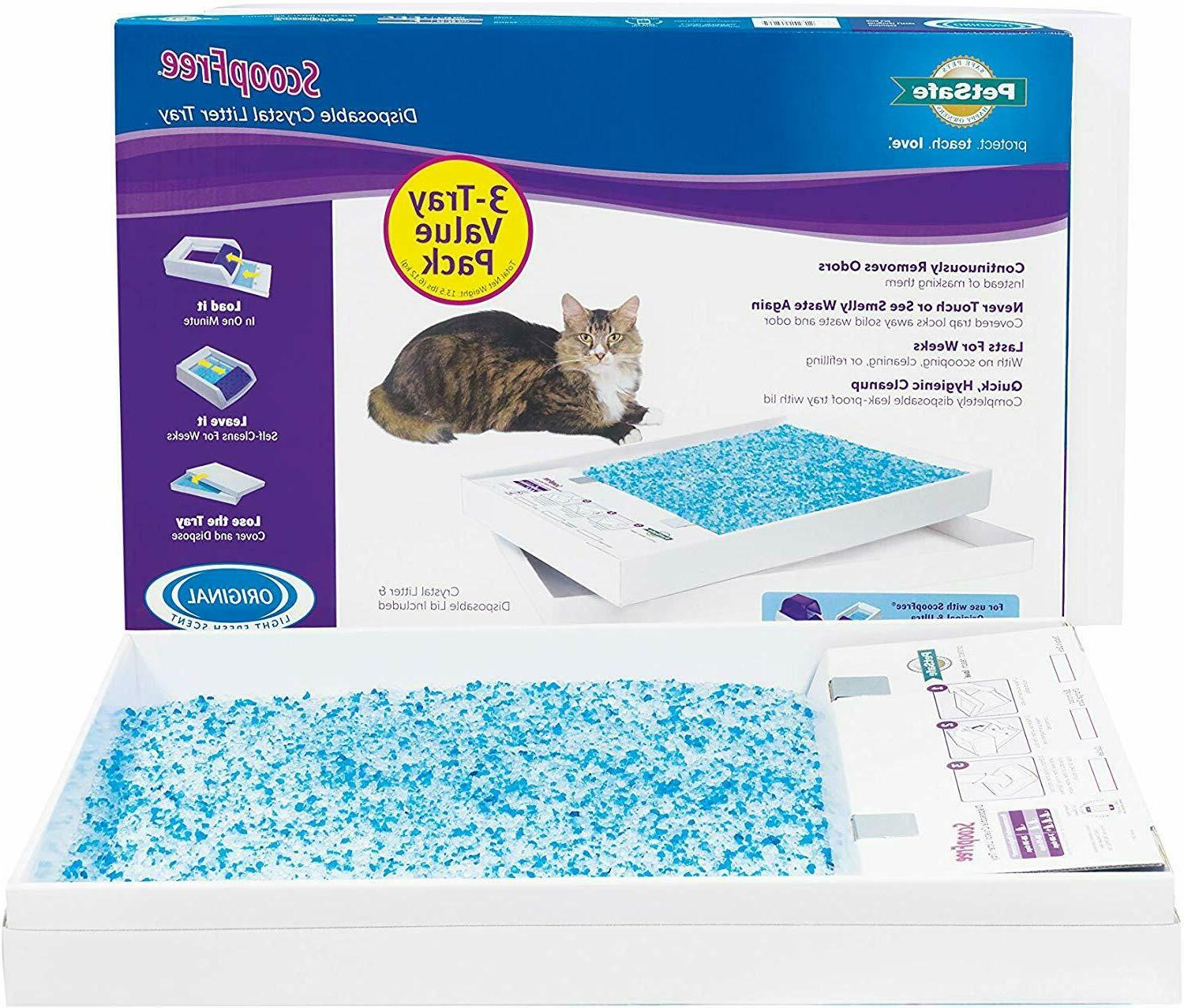 ScoopFree Self-Cleaning Cat Litter Box Tray Refills - Non-Cl